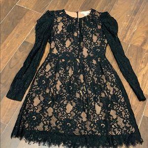 Michael Kors black lace dress size 8